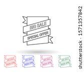 sales label multi color icon....