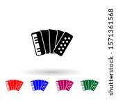 accordion multi color icon....