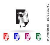 newspaper multi color icon....