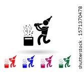 celebrate multi color icon....