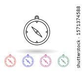 compass multi color icon....
