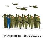 military regime flat vector... | Shutterstock .eps vector #1571381182