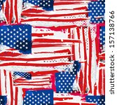 usa flag. seamless vector... | Shutterstock . vector #157138766
