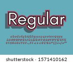 stylish trendy logotype retro... | Shutterstock .eps vector #1571410162