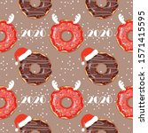 seamless pattern with christmas ... | Shutterstock .eps vector #1571415595