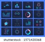 big set of infographics... | Shutterstock .eps vector #1571420368