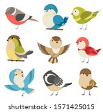 set of cute little colorful... | Shutterstock .eps vector #1571425015