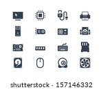computer hardware icons | Shutterstock .eps vector #157146332