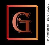 G Letter Logo Design In Black...