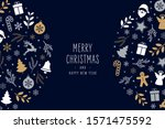 christmas icons elements... | Shutterstock .eps vector #1571475592
