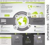 green eco website  | Shutterstock .eps vector #157149632