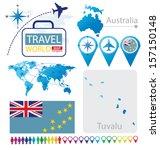 tuvalu. australia. flag. world... | Shutterstock .eps vector #157150148