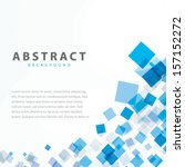 Blue Squares Business Abstract...