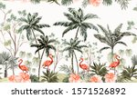 hand drawn tropical vintage... | Shutterstock .eps vector #1571526892
