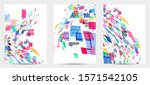square pixel multicolored... | Shutterstock .eps vector #1571542105