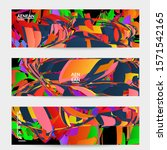 abstract banner template with... | Shutterstock .eps vector #1571542165