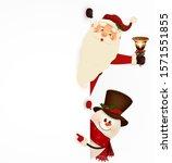 happy smiling cartoon santa... | Shutterstock .eps vector #1571551855