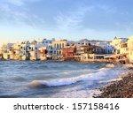 venice embankment   mykonos ... | Shutterstock . vector #157158416