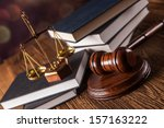 mallet  legal code and scales... | Shutterstock . vector #157163222