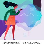 traveling concept banners with... | Shutterstock .eps vector #1571699932