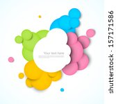colorful background with circles | Shutterstock .eps vector #157171586