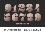 number font. font of numbers in ... | Shutterstock .eps vector #1571716525