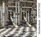 3d industrial grunge chemical... | Shutterstock . vector #1571747332