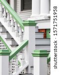 Small photo of Soft Green and White Stoop Staircase