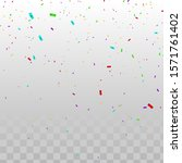 confetti vector illustration.... | Shutterstock .eps vector #1571761402