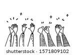 doodle of hands up hands...   Shutterstock .eps vector #1571809102