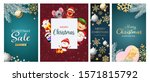 christmas sale poster set with... | Shutterstock .eps vector #1571815792