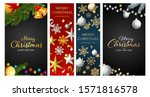 christmas postcard set with... | Shutterstock .eps vector #1571816578