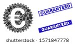 mosaic euro reward seal icon... | Shutterstock .eps vector #1571847778