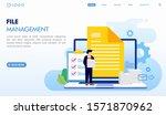 file management landing page...   Shutterstock .eps vector #1571870962
