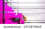 abstract white and colored...   Shutterstock . vector #1571873965