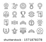 20 awards icons. awards and... | Shutterstock .eps vector #1571878378