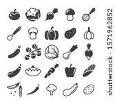 different vegetables black... | Shutterstock .eps vector #1571962852