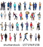 """collection """" back view people """"....   Shutterstock . vector #1571969158"""