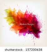 abstract floral colorful... | Shutterstock .eps vector #157200638