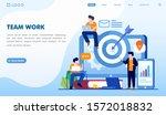 team work landing page website... | Shutterstock .eps vector #1572018832