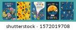 hello carnival. vector set of... | Shutterstock .eps vector #1572019708