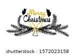 "vector lettering ""merry... | Shutterstock .eps vector #1572023158"