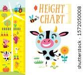 kids height chart. vector...   Shutterstock .eps vector #1572050008