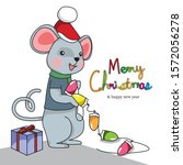 merry christmas and happy new... | Shutterstock .eps vector #1572056278