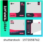 simple editable post template... | Shutterstock .eps vector #1572058762