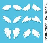 cute angel wings vector cartoon ...   Shutterstock .eps vector #1572065512