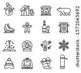 winter icons set with white...   Shutterstock .eps vector #1572065692