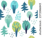 seamless vector pattern. trees... | Shutterstock .eps vector #1572086845
