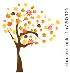 vector tree with fall elements | Shutterstock .eps vector #157209125