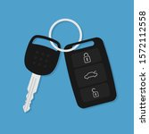 vector car key flat icon
